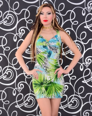 Starlook_Romania_1: Rochie Starlook Exotic Summer Blue