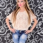 Starlook_Romania_1: Poncho Starlook Fashion Queen Cream