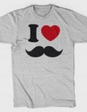 Tshirt-Factory: I LOVE MOUSTACHES