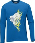 Haine barbati: Bluza Salomon LS Cotton Poly M blue 2012