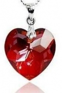 Cadouri-originale.ro: Colier 40 mm Red Heart Borealy made with Swarovski Elements