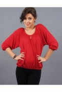 Tinute in stilul anilor 70 by Larissa Fashion: Bluza casual rosie