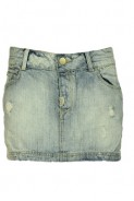 Pull and Bear: Fusta Pull and Bear light blue