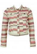 Pull and Bear: Jacheta Pull and Bear Hista Beige