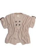 Pulovere Pull and Bear: Cardigan nude cu maneci scurte