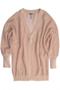 Pulovere Pull and Bear: Cardigan cu maneci bufante