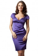 Ama Fashion: Rochie mov din satin gros model 2574