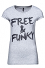 Tricou gri Free and Funky New Yorker