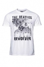 Tricou alb cu imprimeu The Beatles