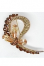 Brosa Amber Bow made with Swarovski Elements