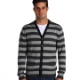 Camasi French Connection - Sonar Stripe Cardigan - Charcoal Melange