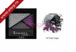 RIMMEL LONDON GLAM EYES TRIO FARD DE PLEOAPE DARK ANGEL 747