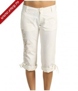 Pantaloni Lucky Brand - Melly Embroidered Crop Pant - Mediterranean Sand/Sandal Embroidery
