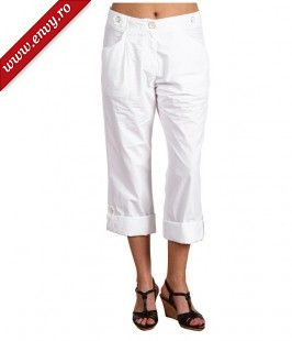 Pantaloni Ted Baker - Carlita Roll Up Cropped Trousers - White